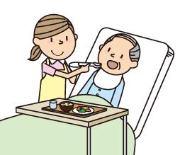 ベッドで寝たままの姿勢での食事介助方法と注意点